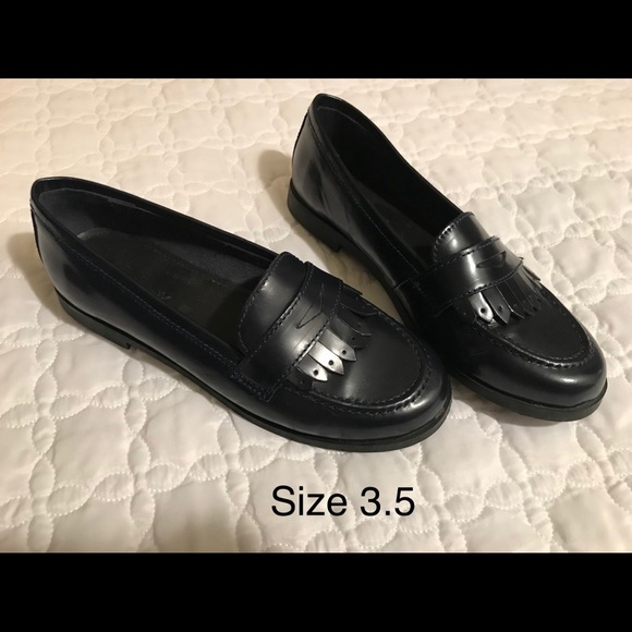 Zara Shoes | Kids Leather Loafers
